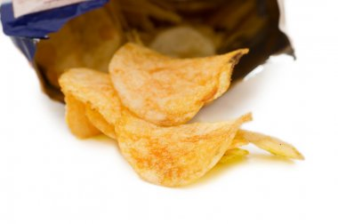 Bag of Potato Chips,isolated on white