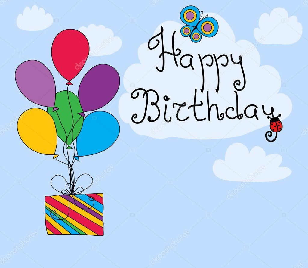Английская поздравительная открытка на день рождения