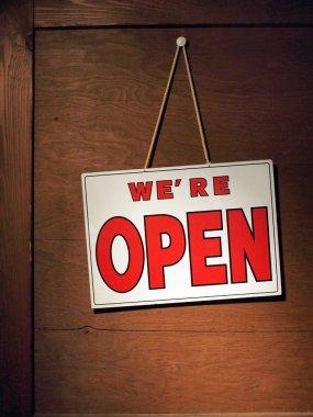 We are open door sign