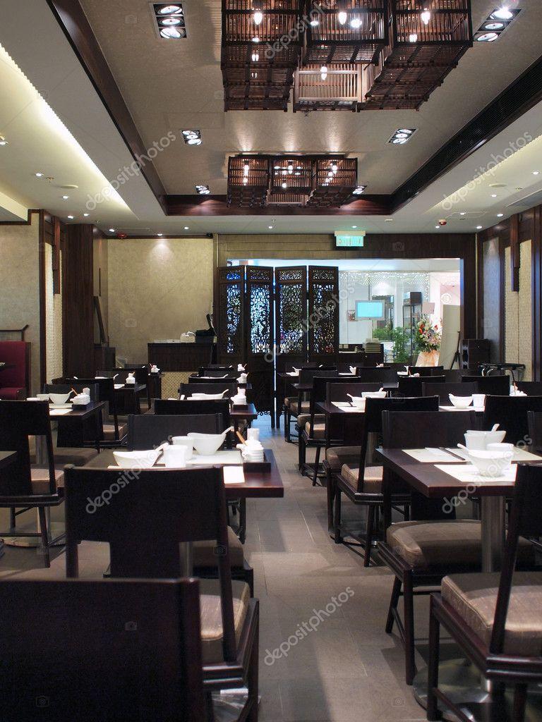 chinees restaurant interieur stockfoto
