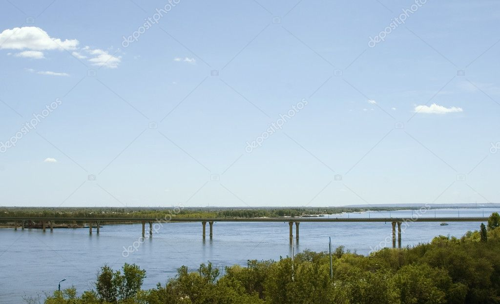 The bridge over the river Volga