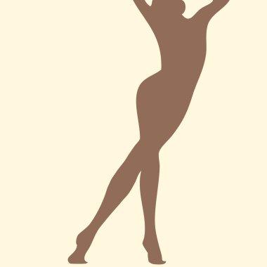 Beautiful skin woman silhouette