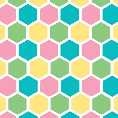 Honeycomb pastel background