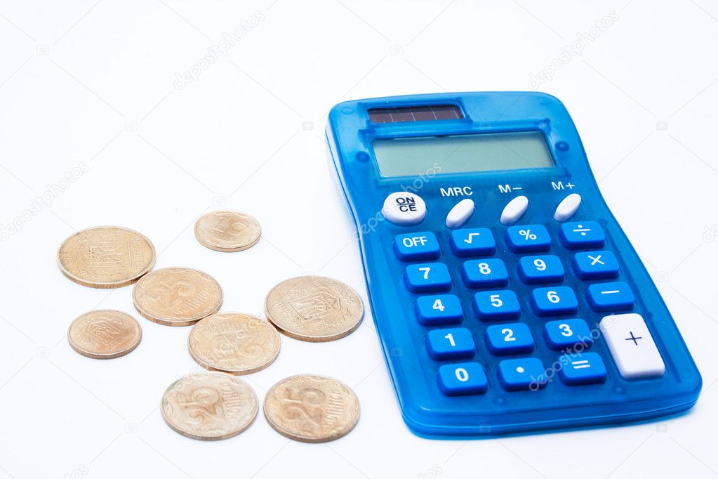 The Blue Calculator And Cents Stock P O