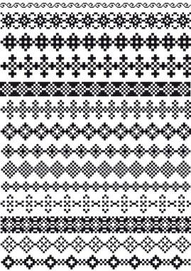 Pixel borders, vector