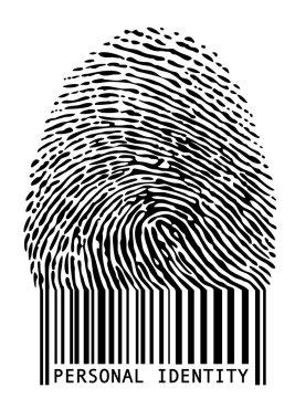 Barcode fingerprint, vector