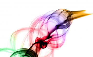 Magic Abstract puff of colored smoke