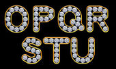 Fotografie O - U letters incrusted with diamonds