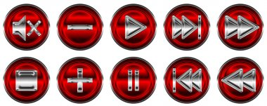Collection of media controls and buttons