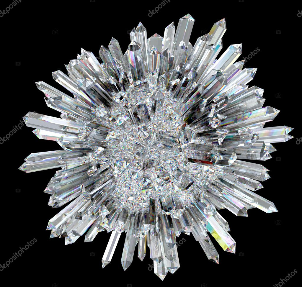 Diamond sphere with acute columns