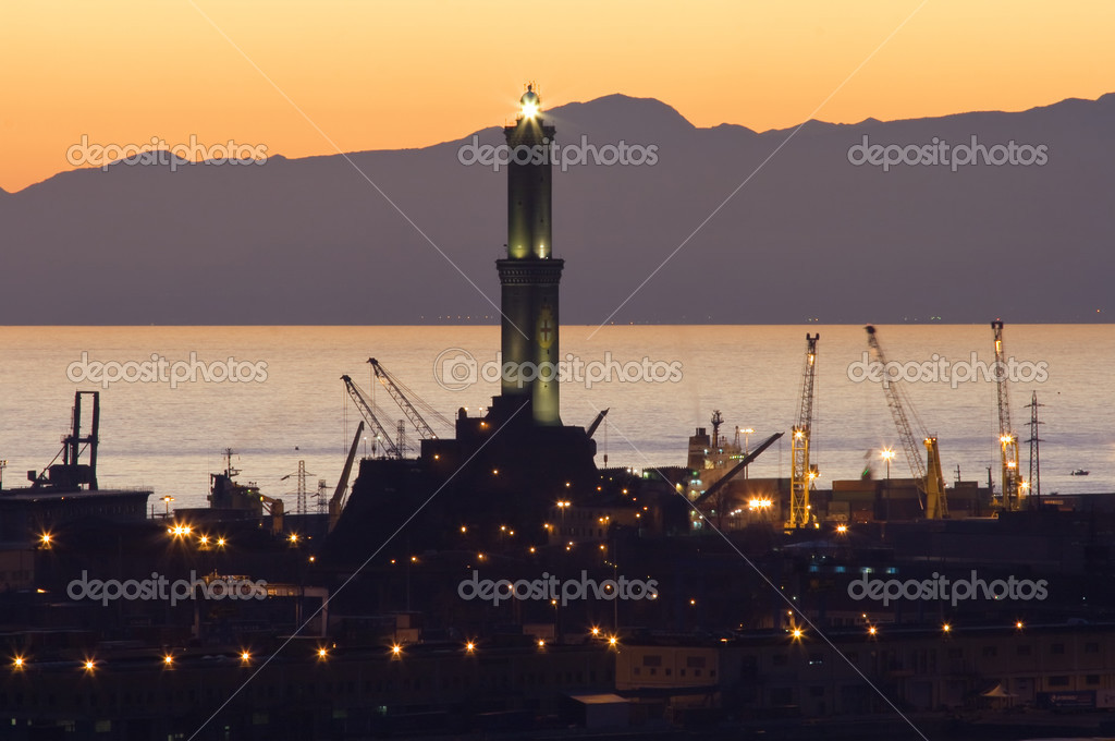 Port of Genoa at sunset (2)