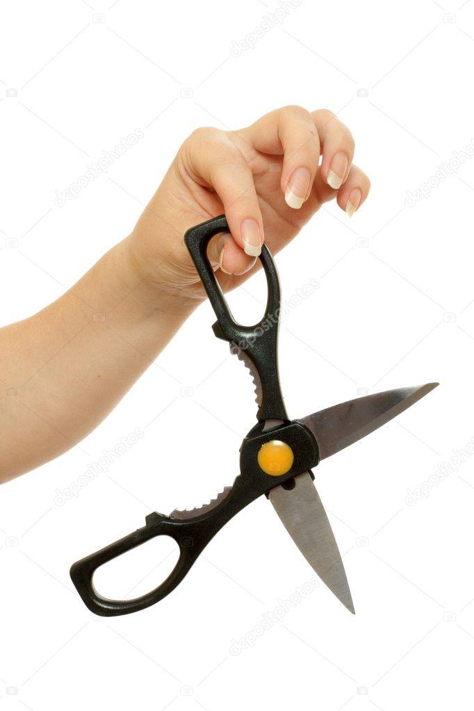 Ножницы в руках картинка