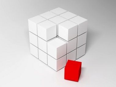 Cubes. Abstract background