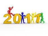 Nový rok. muži s čísly 2011