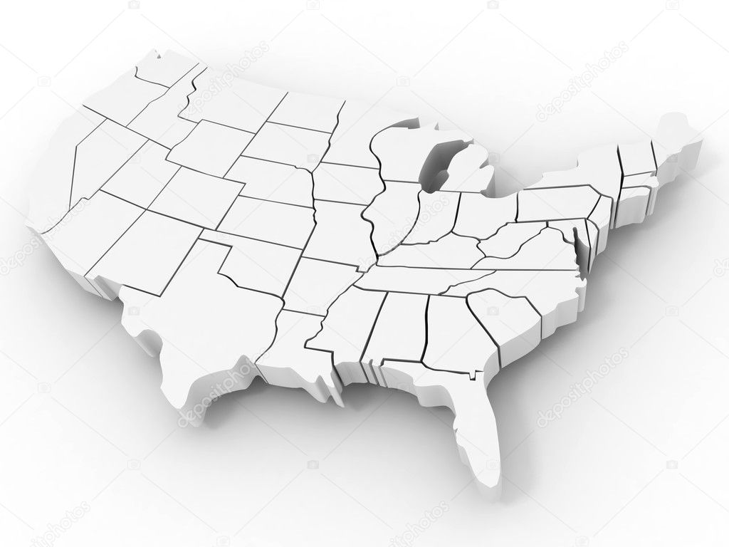 Line Art Usa Map : Map of usa u stock photo maxxyustas