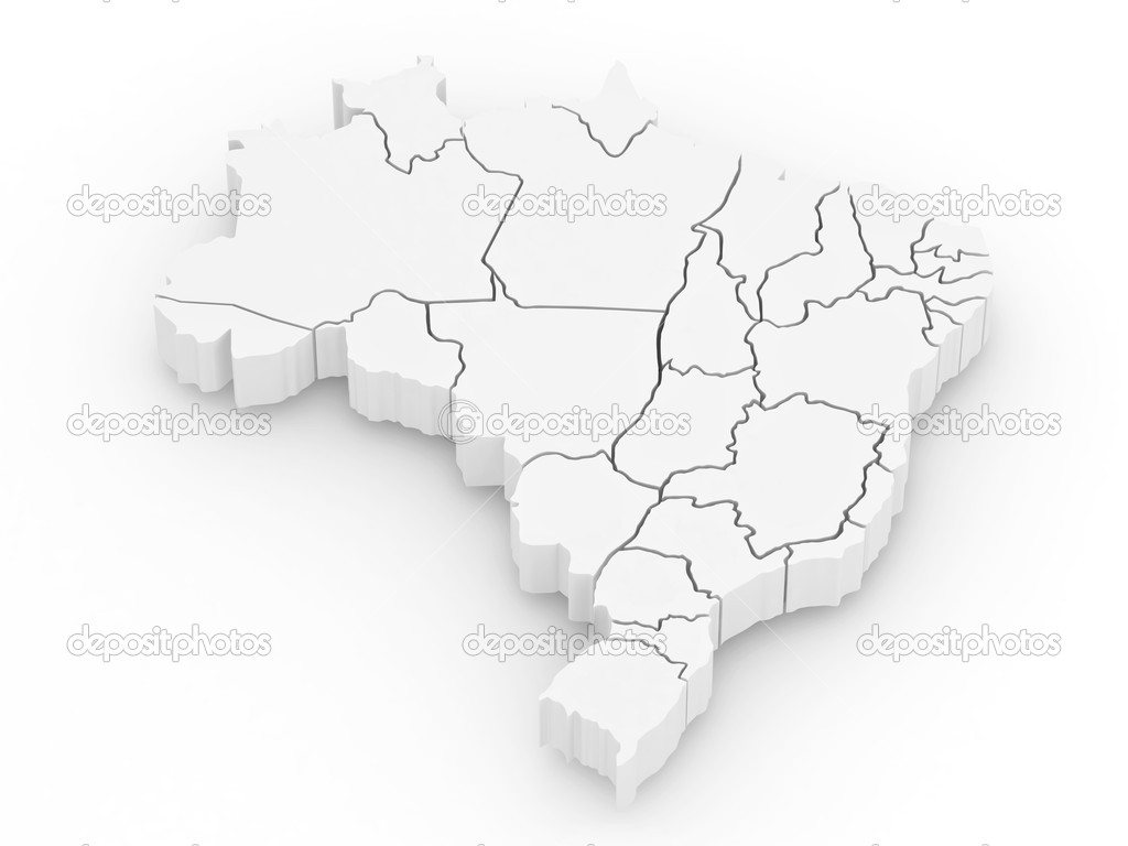 Three dimensional map of brazil 3d stock photo for 3 dimensional wallpapers 3d