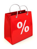 Nákupní taška s procenty