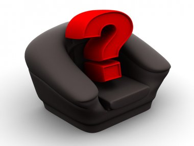Armchair with question. Vacancy