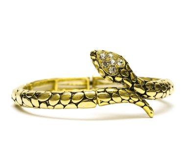 Golden bracelet isolated