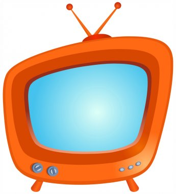Retro TV stock vector
