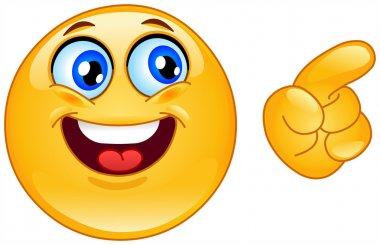 Pointing emoticon