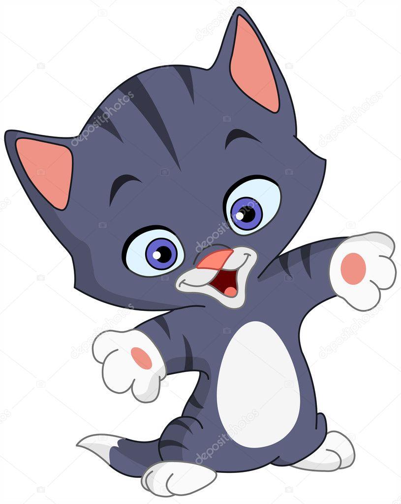 Cheerful kitten