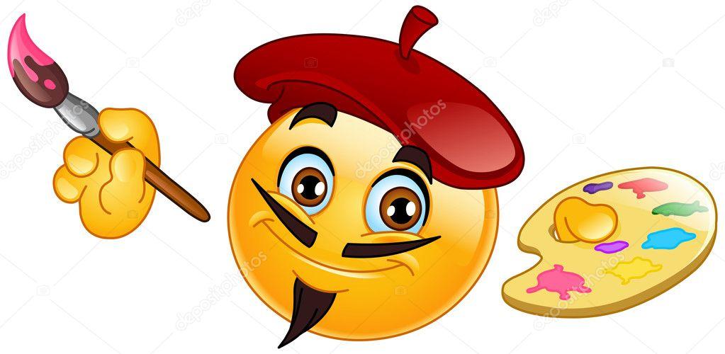 Motic ne peintre image vectorielle yayayoyo 3376940 - Dessin avec emoticone ...