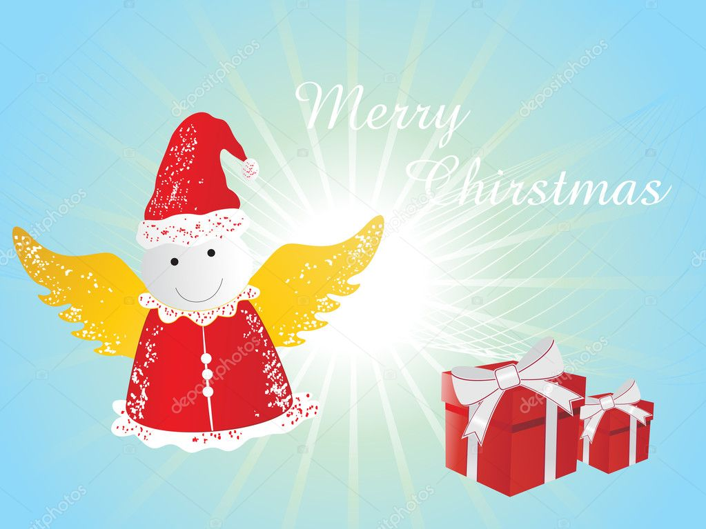 glücklich heiraten Weihnachten Hintergrund — Stockvektor ...