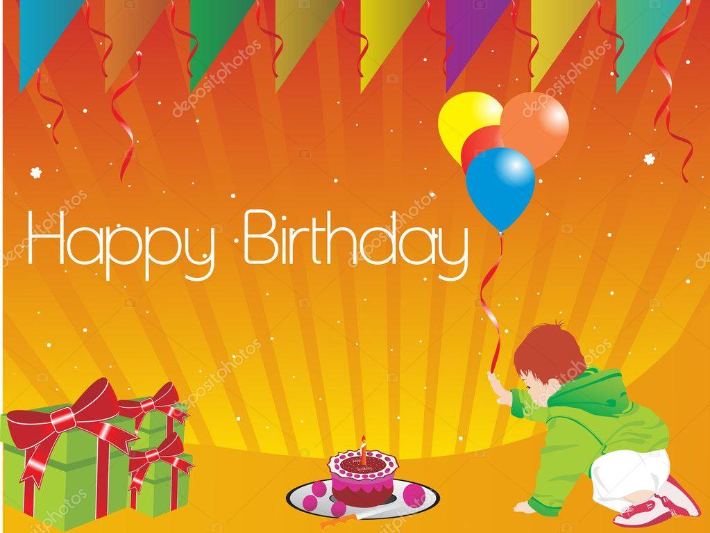 Gelukkige Verjaardag Kind Illustratie Stockvector C Alliesinteract