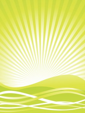 Green abstract background, illustration