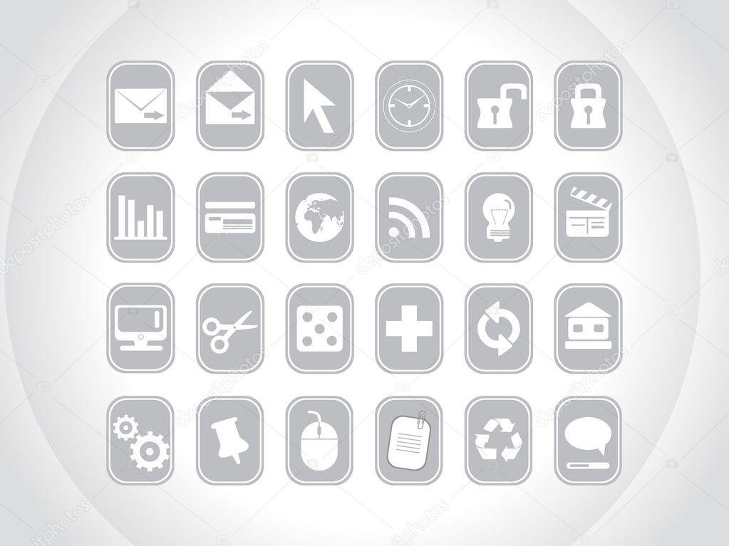Gray small icons