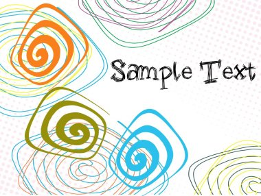 Abstract artistic background with sample text clip art vector