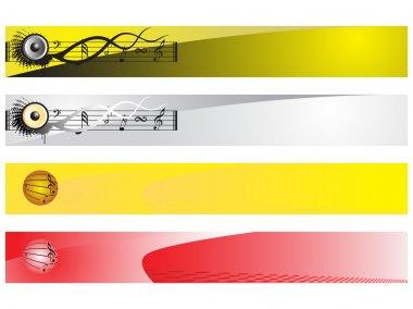 Musical series website banner