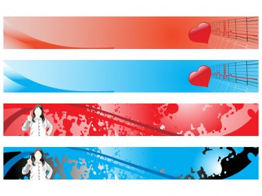 Web 2.0 style banner set