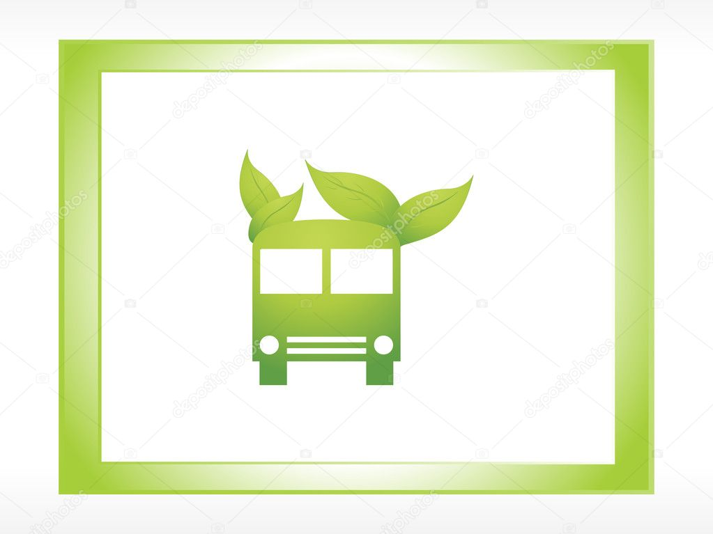 Logo ecology green bus
