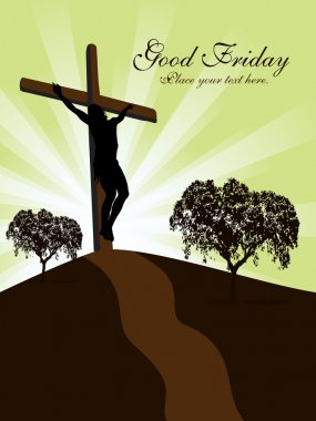 Greeting card for good friday