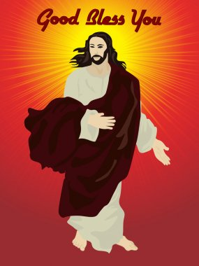 Isolated jesus christ with background