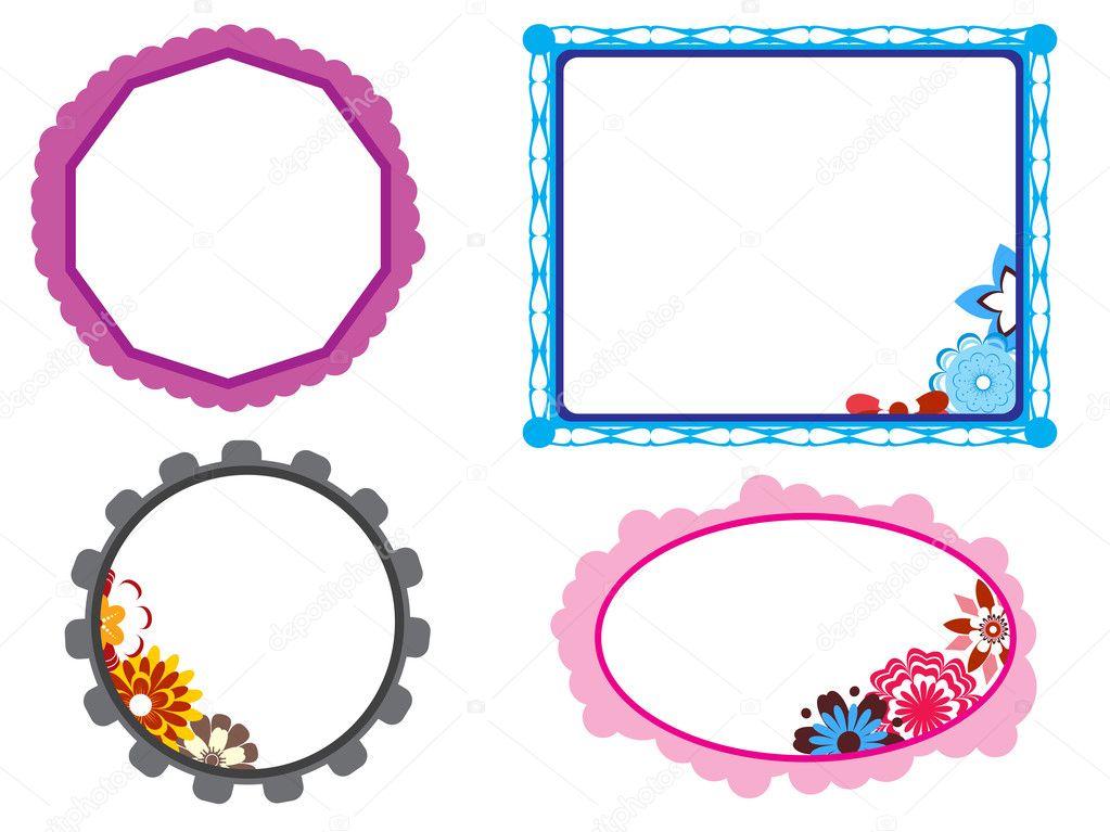 Bloom pattern kids frames — Stock Vector © alliesinteract #2890230