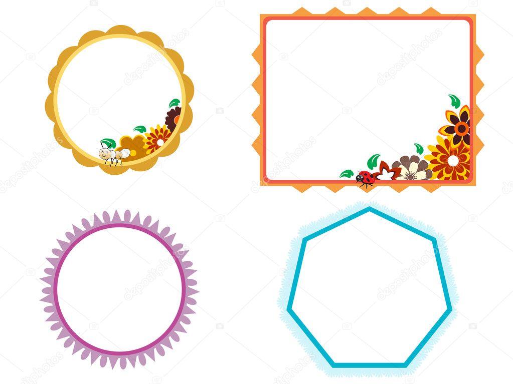 Illustration of kids frames — Stock Vector © alliesinteract #2890239