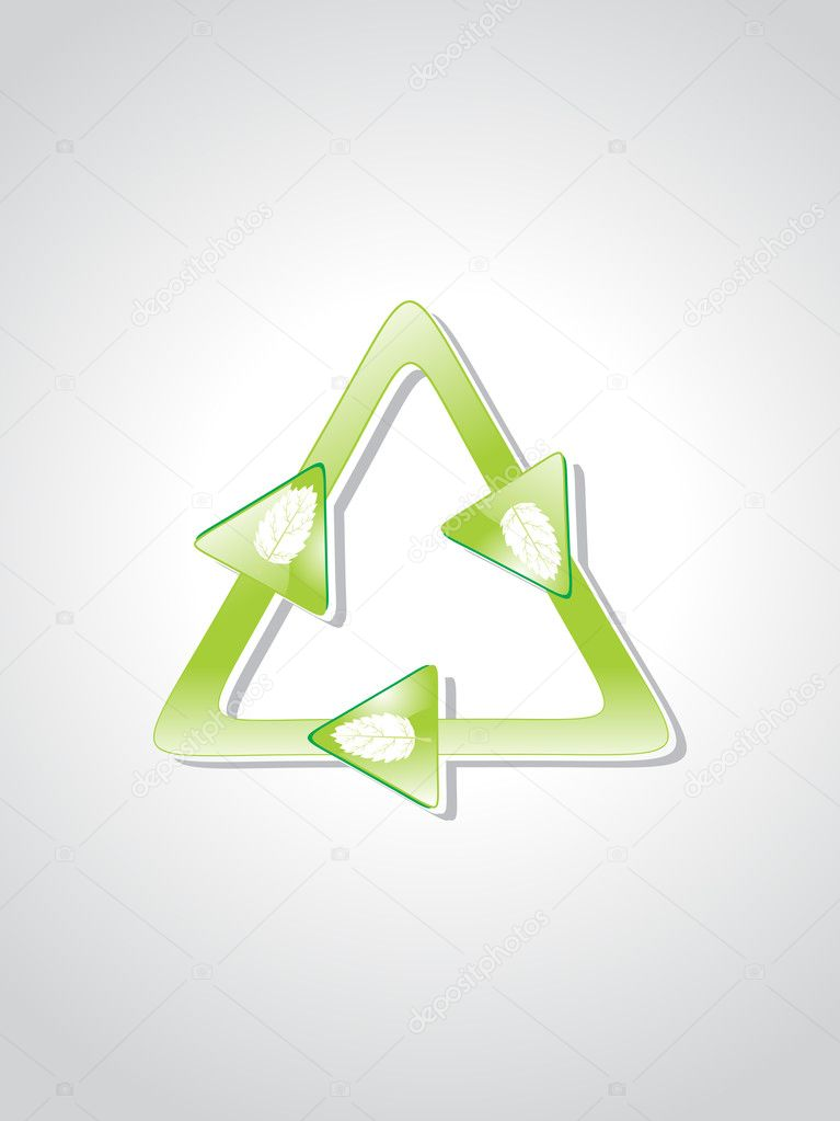Illustration of isolated green icons