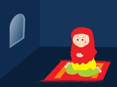 Muslim woman redding namaz