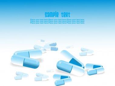 Medical tablet background