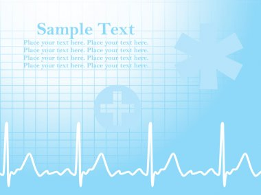 Abstract ecg background with heart beat and medical sign stock vector