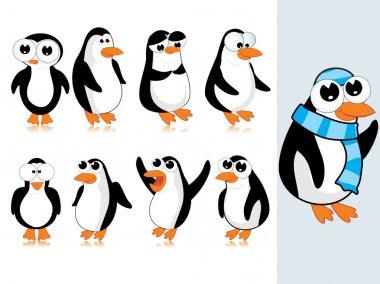 Vector cute penguin