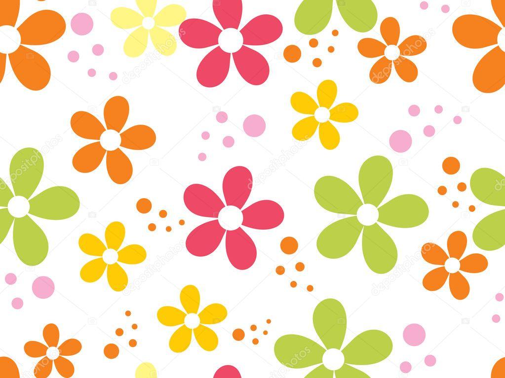 Sfondo con fiori colorati vettoriali stock for Fiori stilizzati colorati