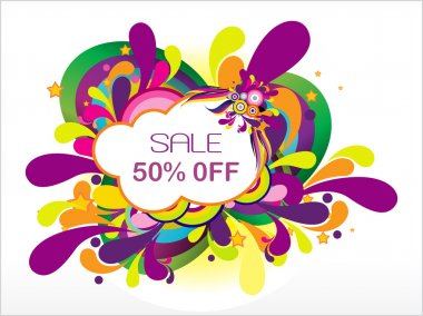 Sale 50% off and many swirl