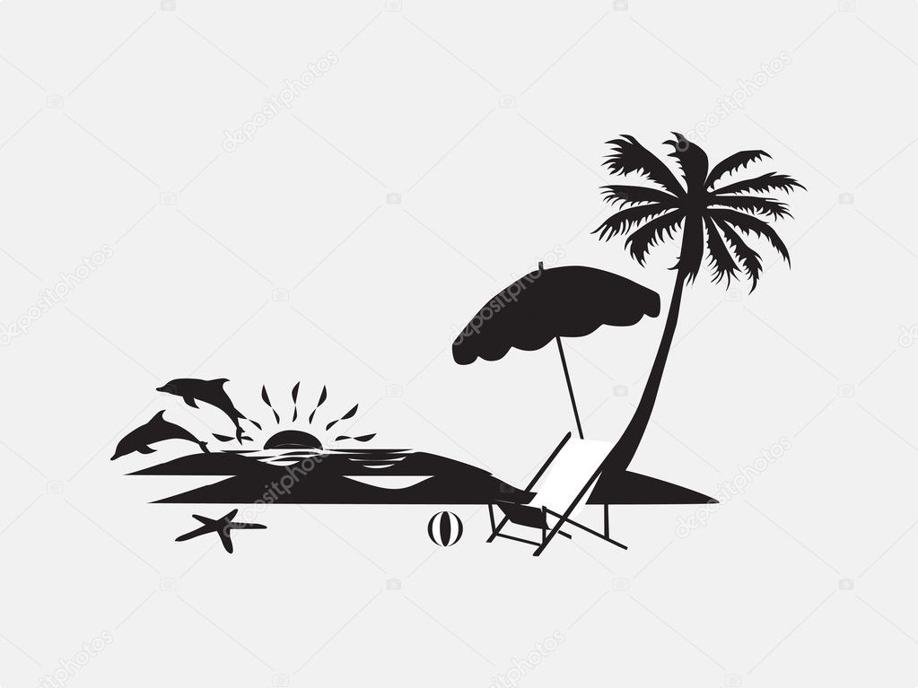 palm trees with lounge chairs stock vector Running Shoe Sole Clip Art Shoe Sole Clip Art