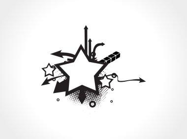 Wallpaper, aeros and stars elements