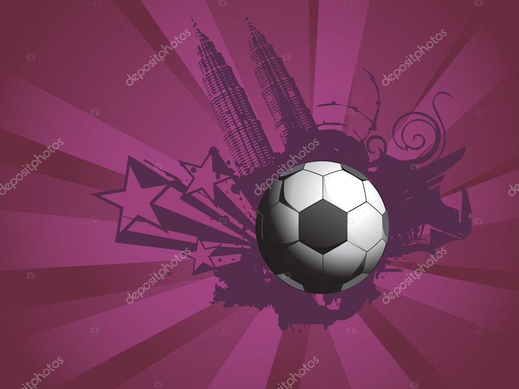Tapete Fussball Stadt Hintergrund Stockvektor