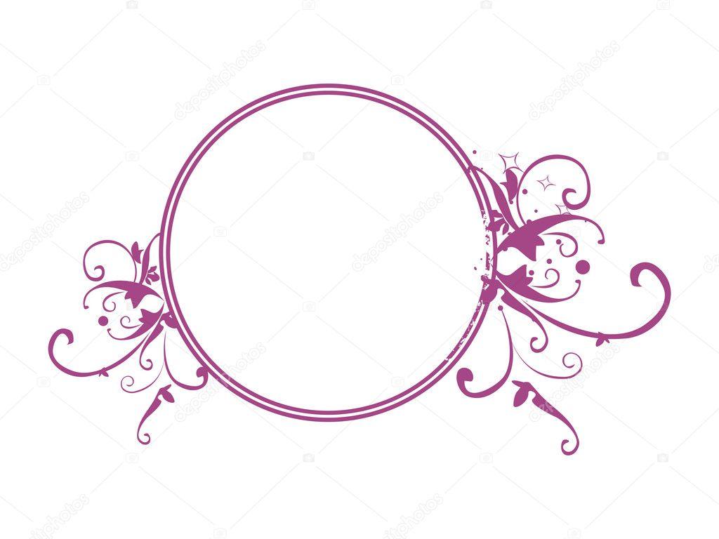 Vector circle frame — Stock Vector © alliesinteract #3119932